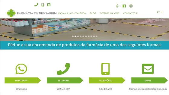 Web Design - Criação de Sites - Farmácia de Bensafrim
